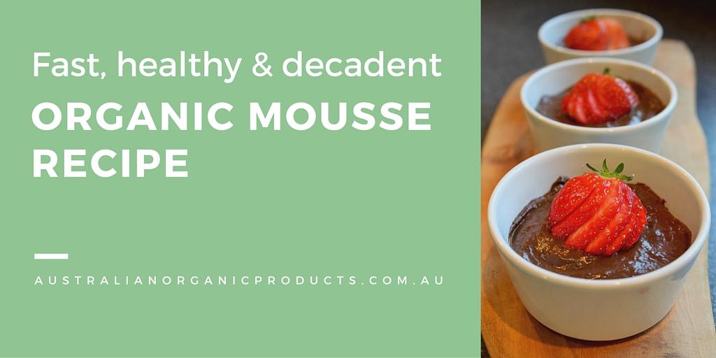 Recipe, chocolate avocado mousse, healthy dessert